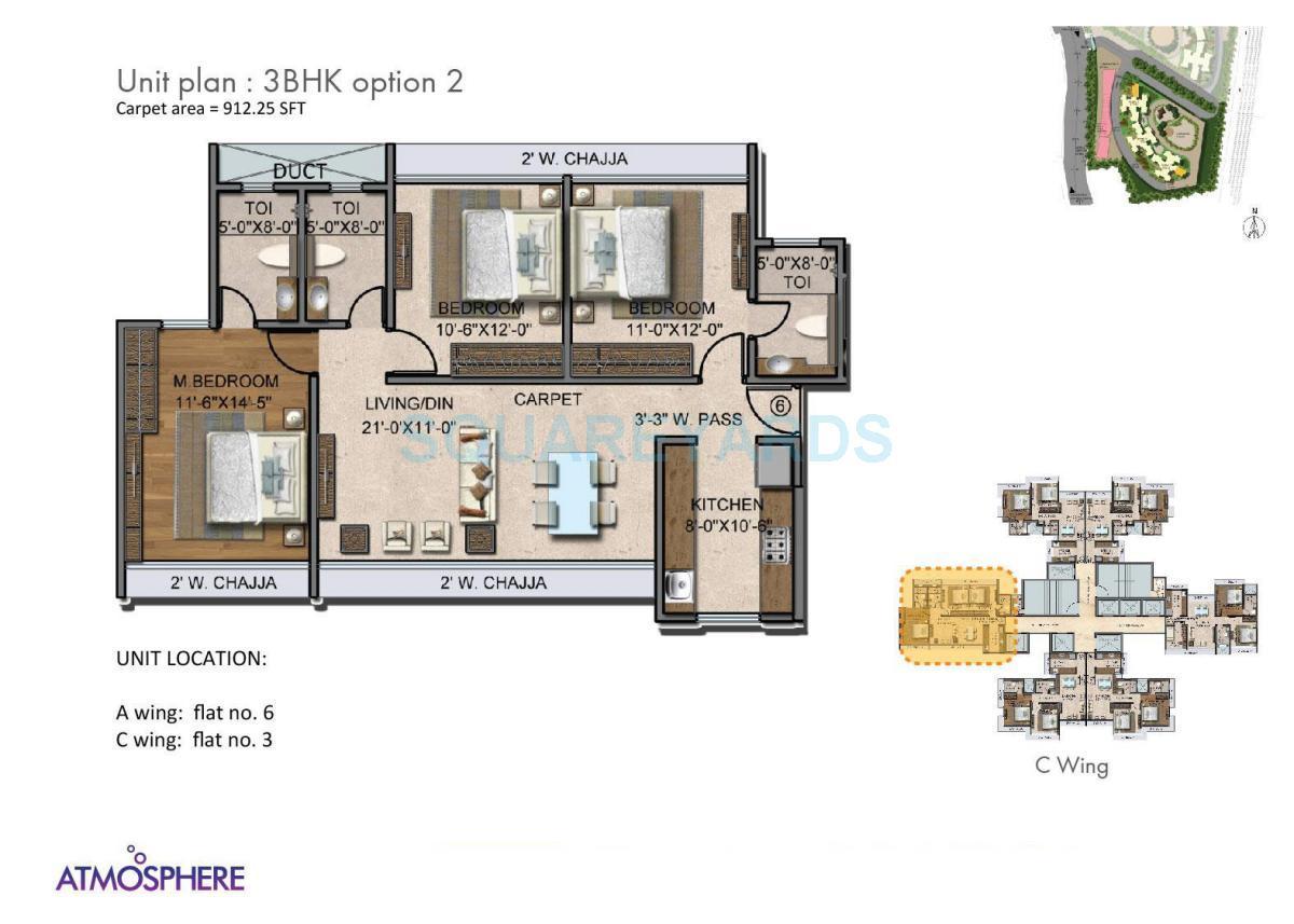 the wadhwa atmosphere apartment 3bhk 912sqft 1