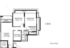 the wadhwa palm beach residency apartment 2bhk 1490sqft 20205902135921