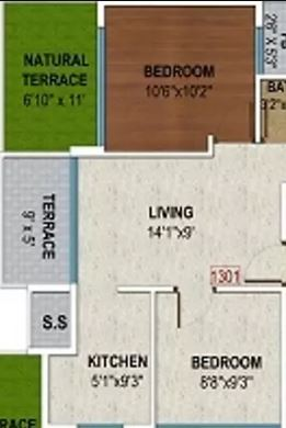 tricity eros apartment 2bhk 614sqft31