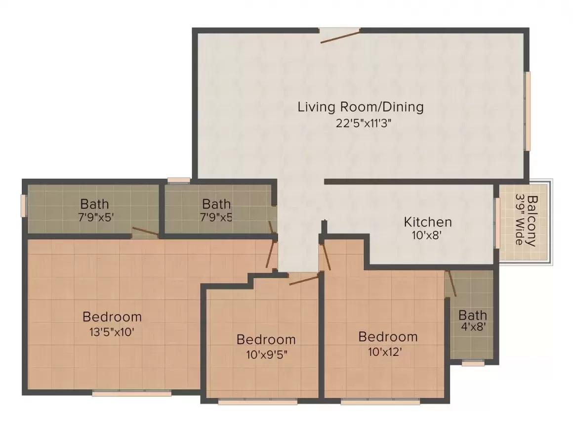 uk sangfroid apartment 3bhk 943sqft 20202620132650