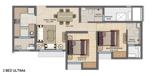 upper thane tiara h apartment 2bhk 613sqft 01