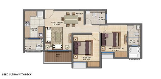 upper thane tiara h apartment 2bhk 663sqft 11