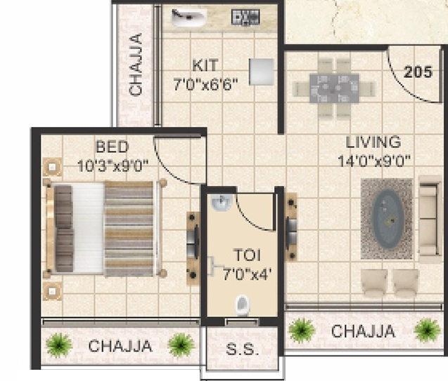 vaishnavi ellora apartment 1bhk 248sqft01