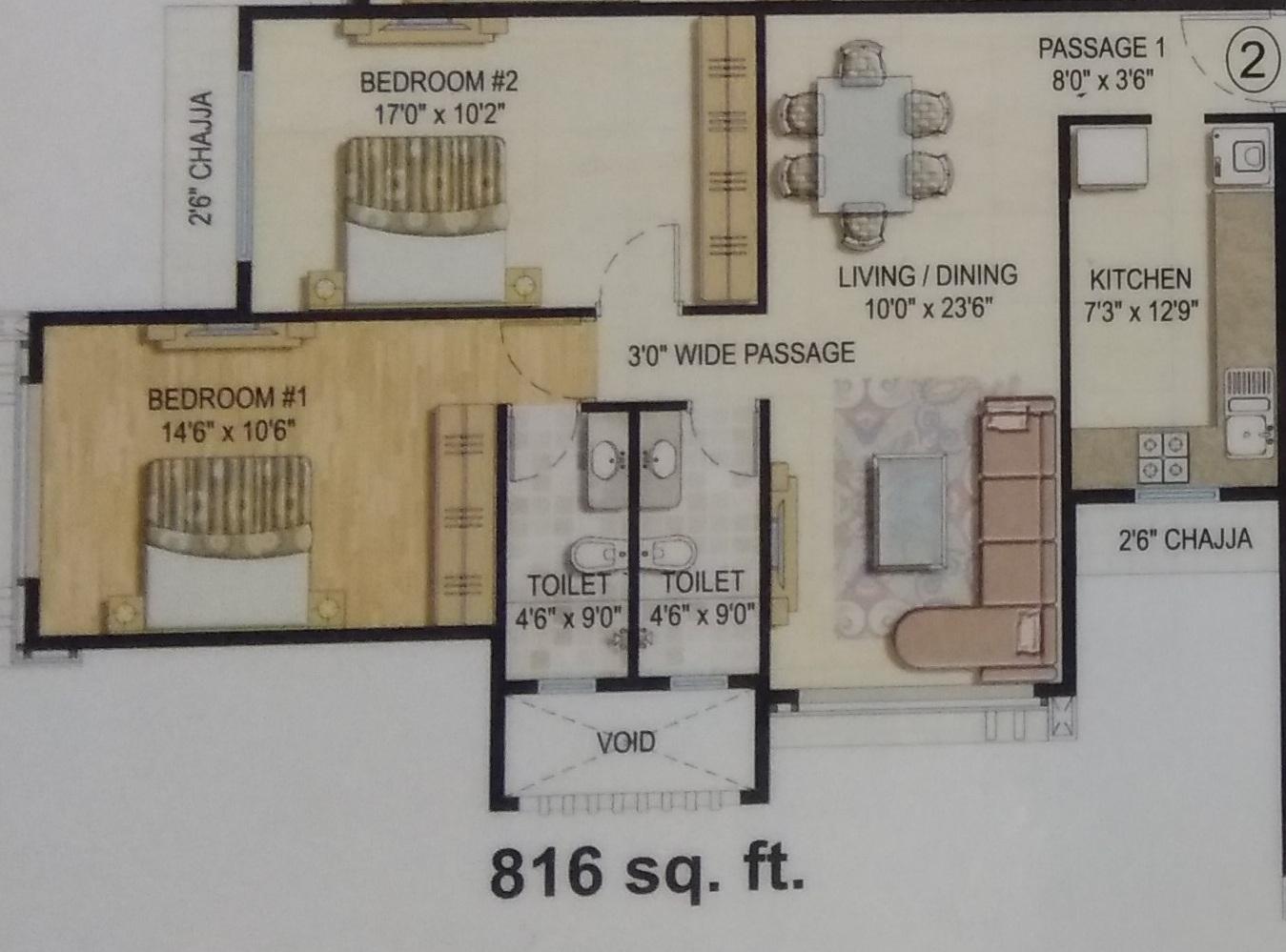vijay khetan krishna residences apartment 2 bhk 816sqft 20203903163940