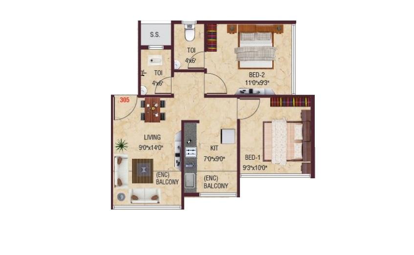 villa oceano villa 2bhk 452sqft11