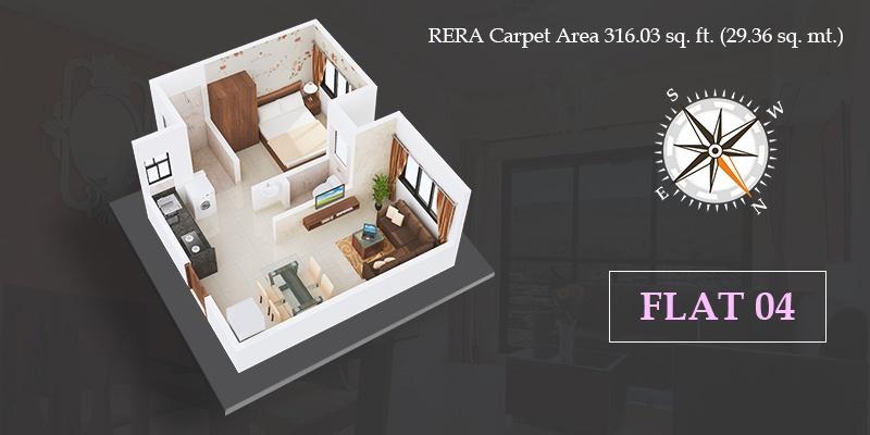 vklal vishnu phase 1 apartment 1 bhk 316sqft 20215012125038