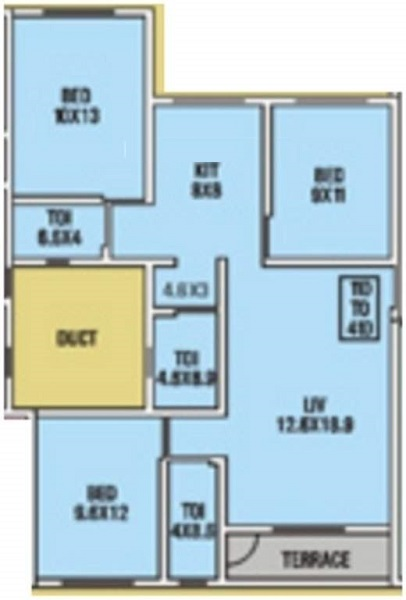 wadhwana housing tirupati grande apartment 2bhk 1360sqft1