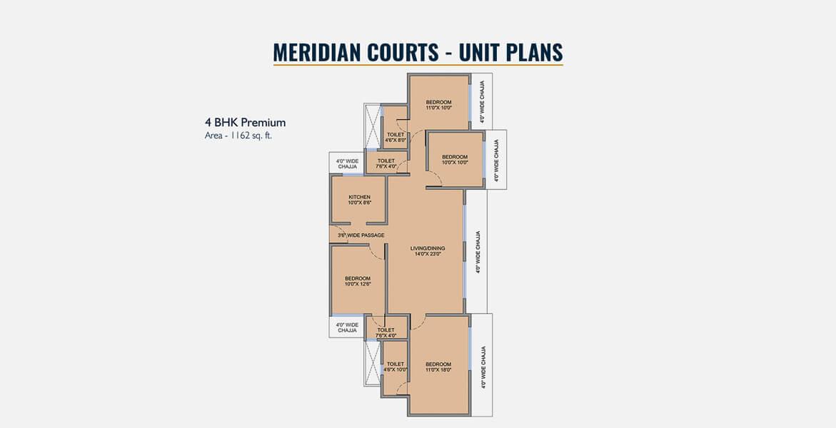 west center meridian courts apartment 4bhk 1917sqft 1