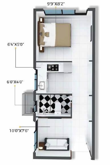 xrbia crystal apartment 1bhk 246sqft 1