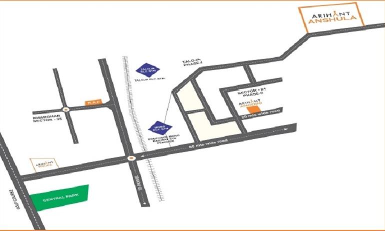 arihant anshula project location image1