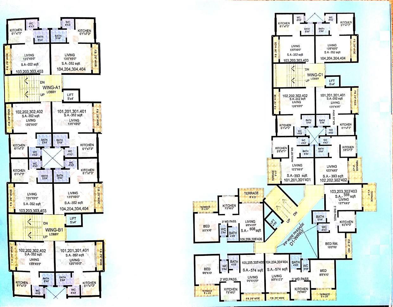 balaji modern city project floor plans1