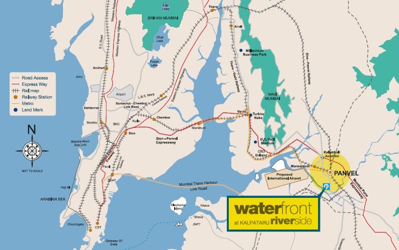 kalpataru waterfront project location image1