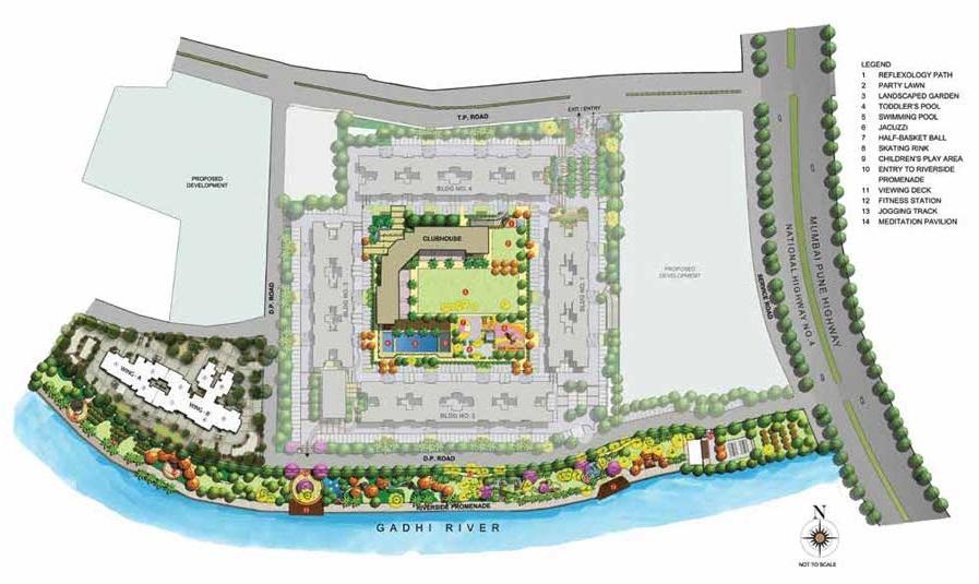 kalpataru waterfront project master plan image1