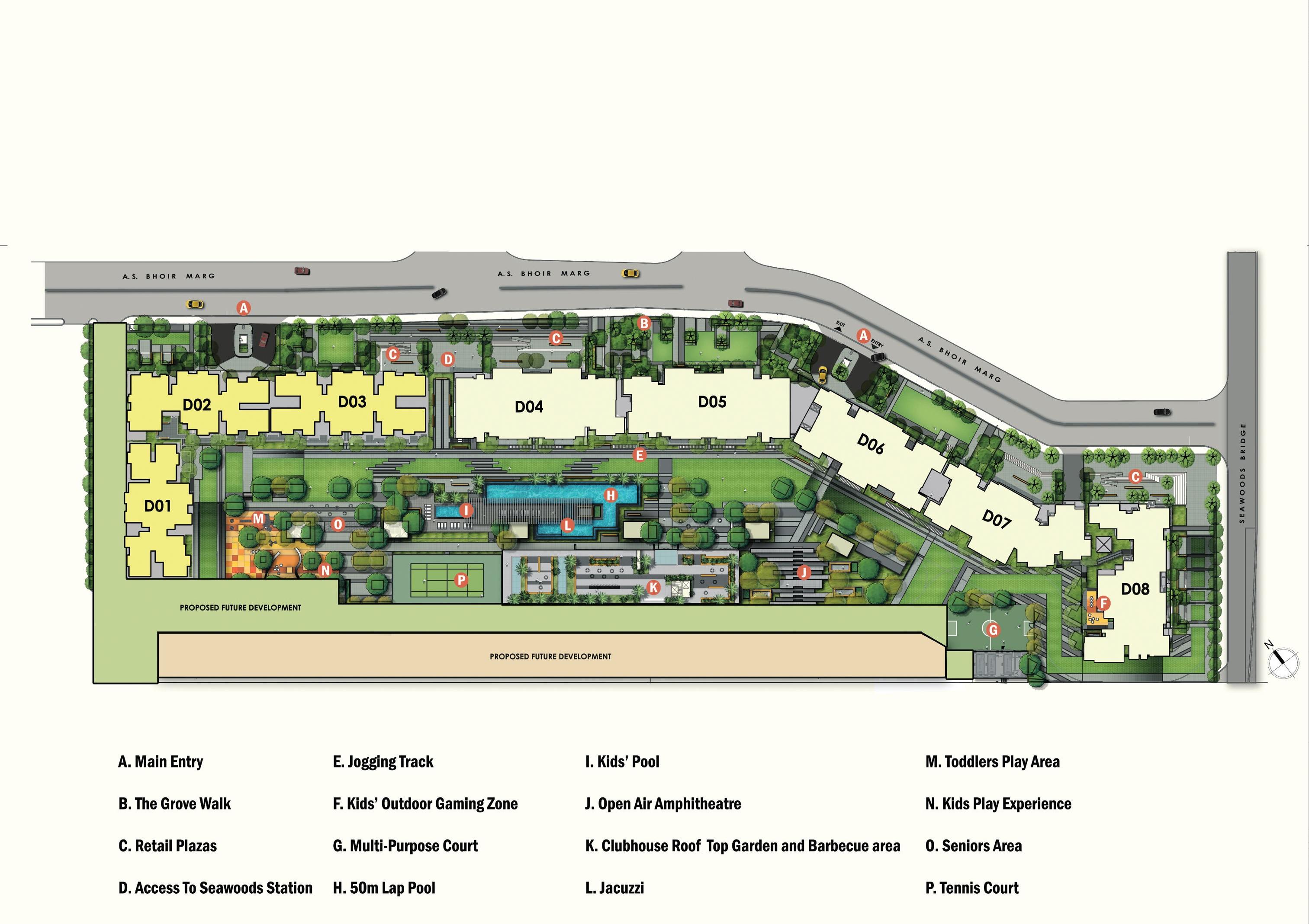 l and t seawoods residences project master plan image1
