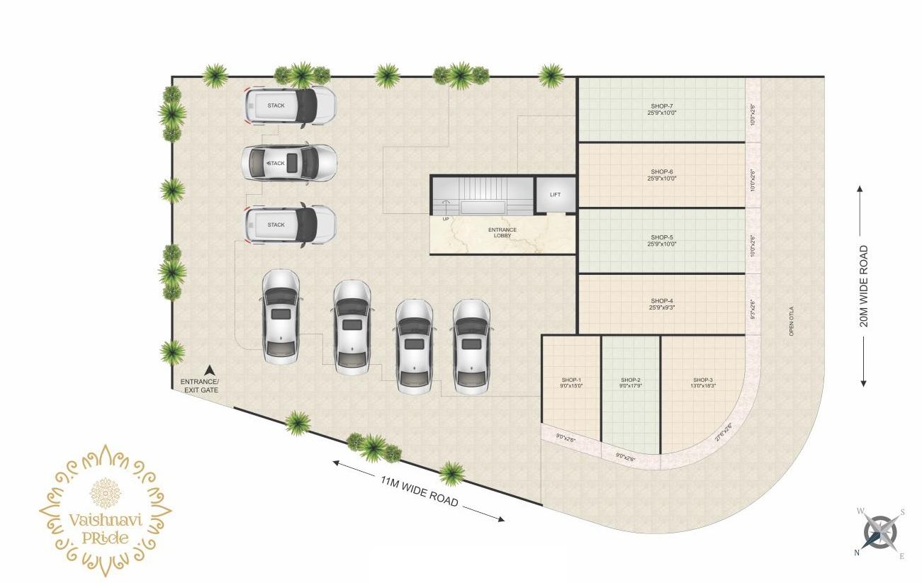 rk vaishnavi pride project master plan image1