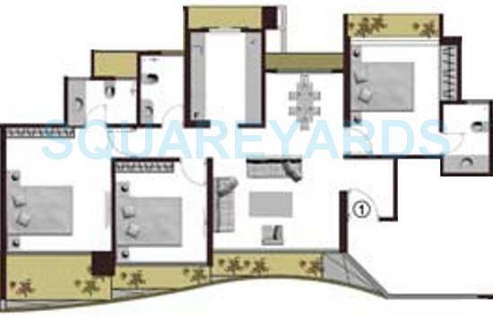 adhiraj cyprees aqua apartment 3bhk 1541sqft1
