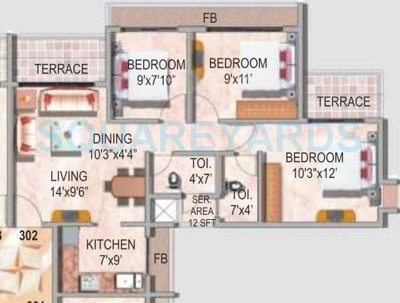 akshar valencia apartment 2bhk 1030sqft1