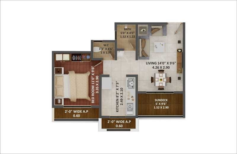 eco greens phase 2 apartment 1 bhk 338sqft 20201002131008