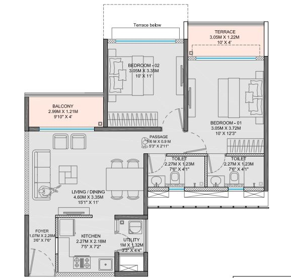 godrej city apartment 2 bhk 631sqft 20201710101748