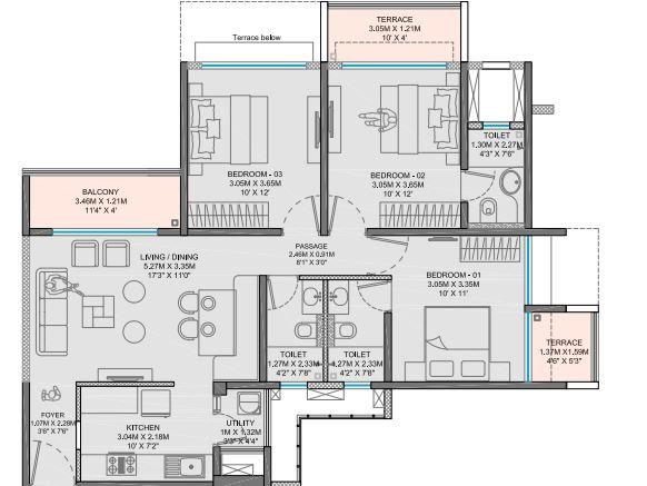 godrej city apartment 3 bhk 996sqft 20201810101825