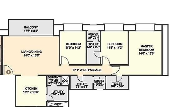 hiranandani fortune city apartment 3 bhk 1396sqft 20200710190745