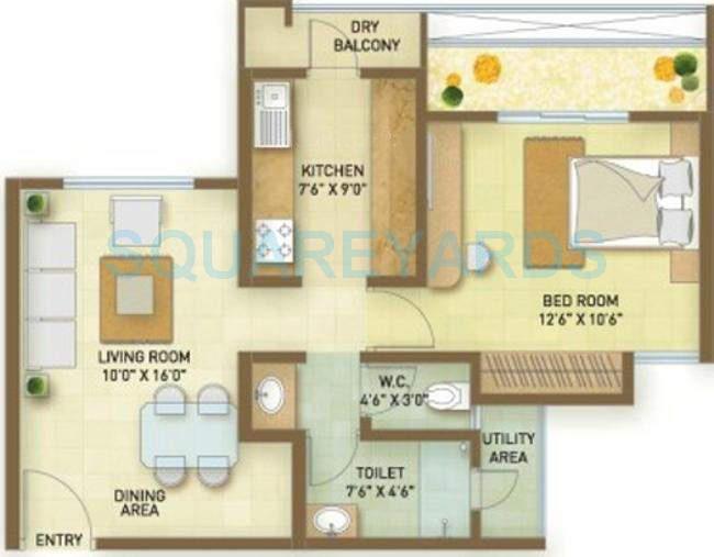 indiabulls greens apartment 1bhk 713sqft1