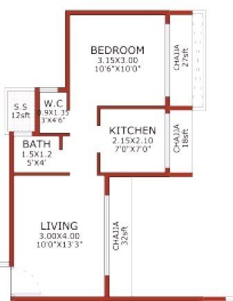 juhi niharika absolute apartment 1bhk 417sqft41