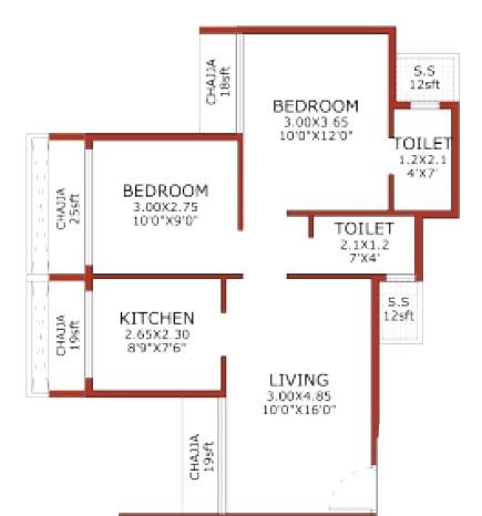 juhi niharika absolute apartment 2bhk 734sqft41