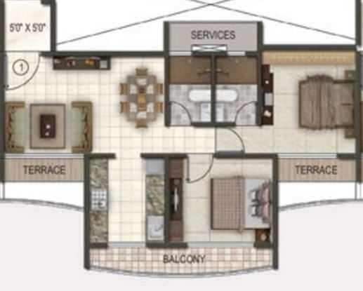 paradise sai riverdale apartment 2bhk 1115sqft11