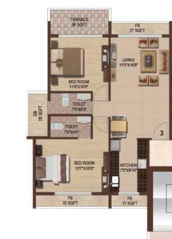 parth magnus apartment 2 bhk 1380sqft 20204904174920