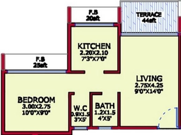 platinum tulsi sapphire apartment 1 bhk 212sqft 20203915163948