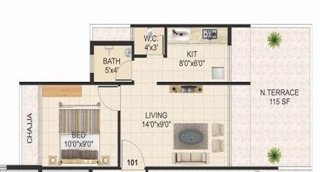 rk vaishnavi pride apartment 1 bhk 274sqft 20212021152054
