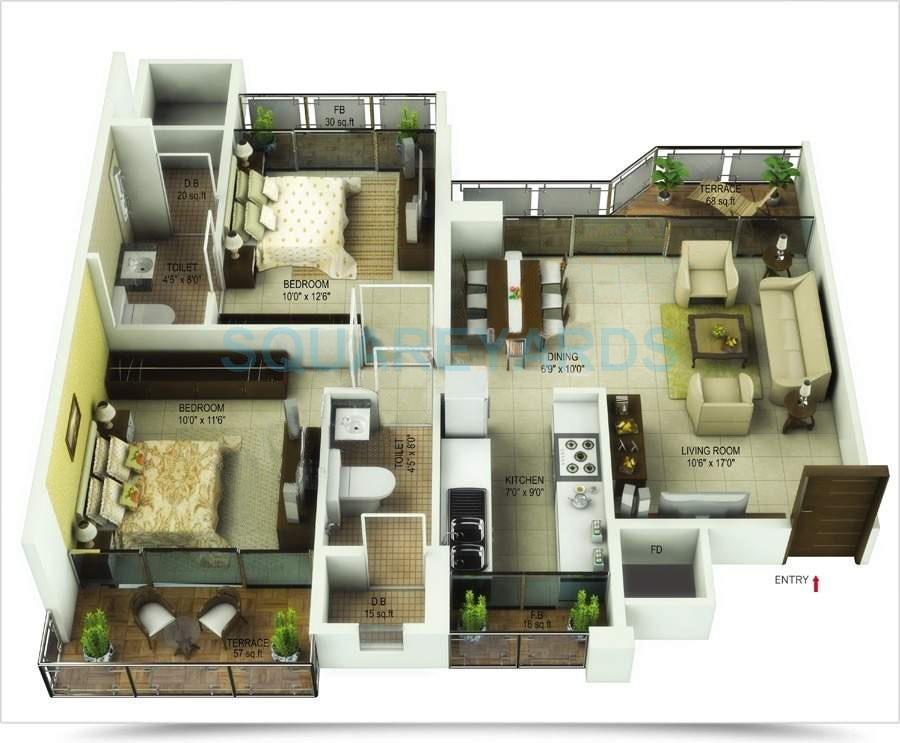saha kingdom apartment 2bhk 1320sqft1