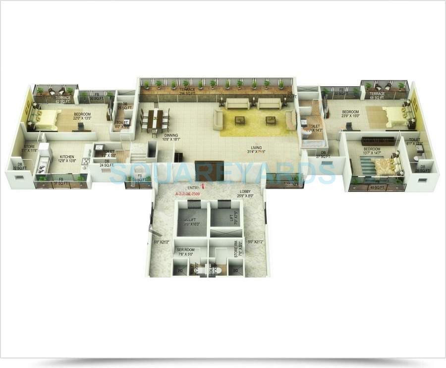 saha kingdom apartment 5bhk 6900sqft1