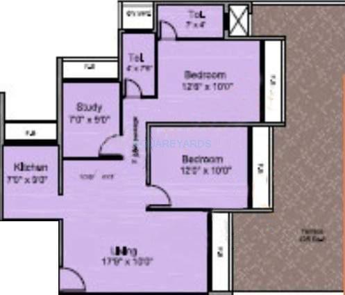 saha royale apartment 2bhk 1060sqft1