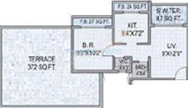 saha saha alpine apartment 1bhk 850sqft1