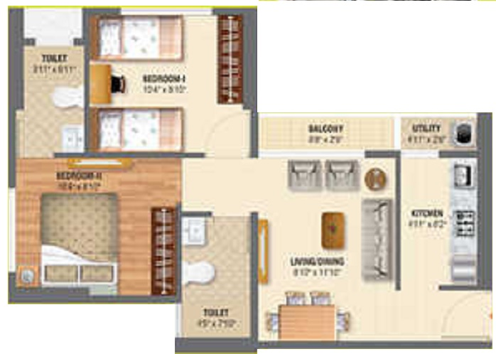 sheltrex smart phone city project 1 phase 3 apartment 2 bhk 312sqft 20212315182323