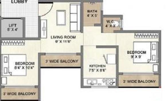 space sai moreshwar apartment 2 bhk 600sqft 20210406110423