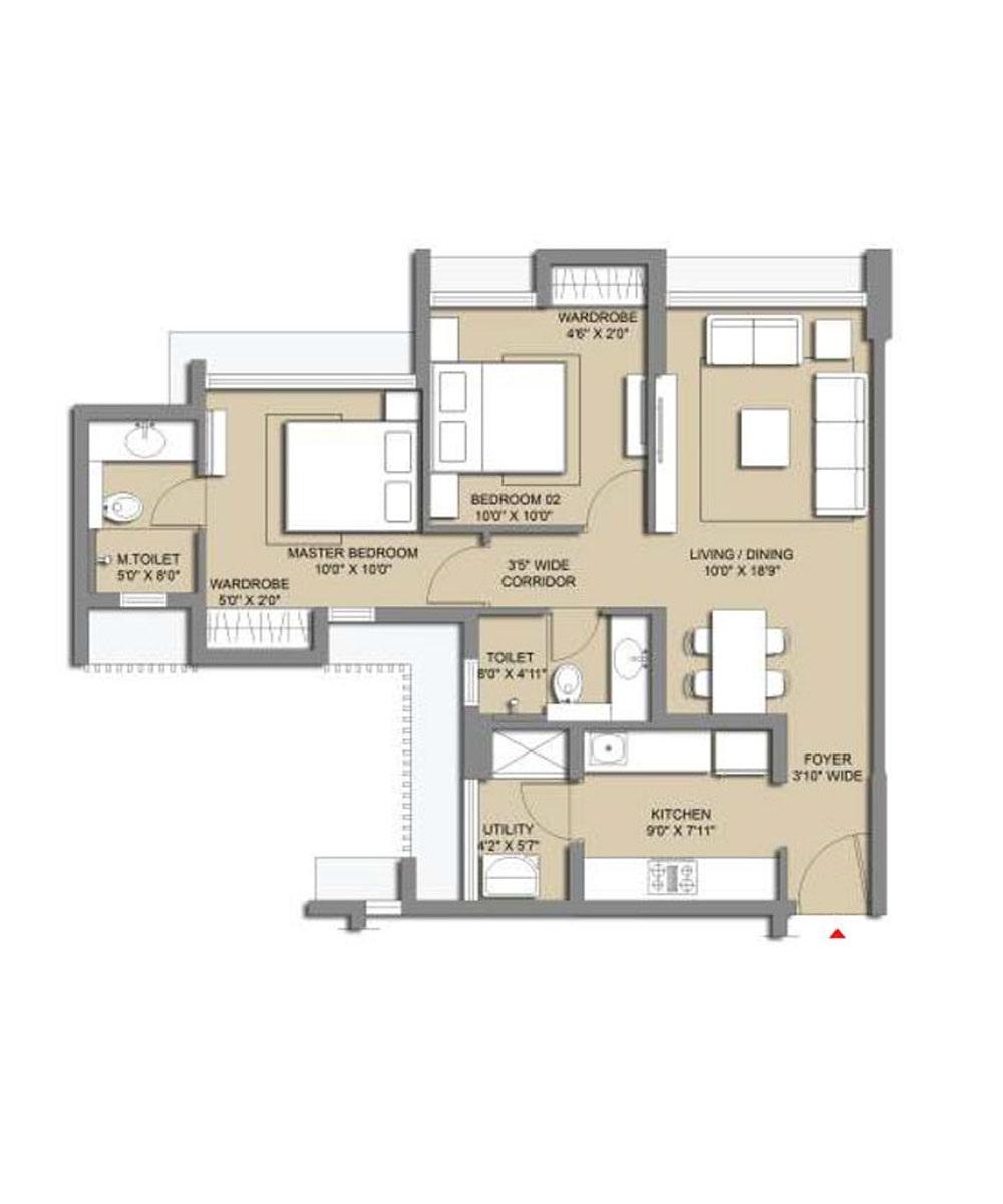 today global anandam apartment 2bhk 467sqft21