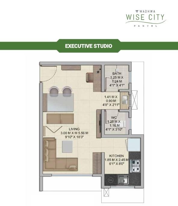 wadhwa wise city south block phase 1 b1 wing a2 studio 289sqft51