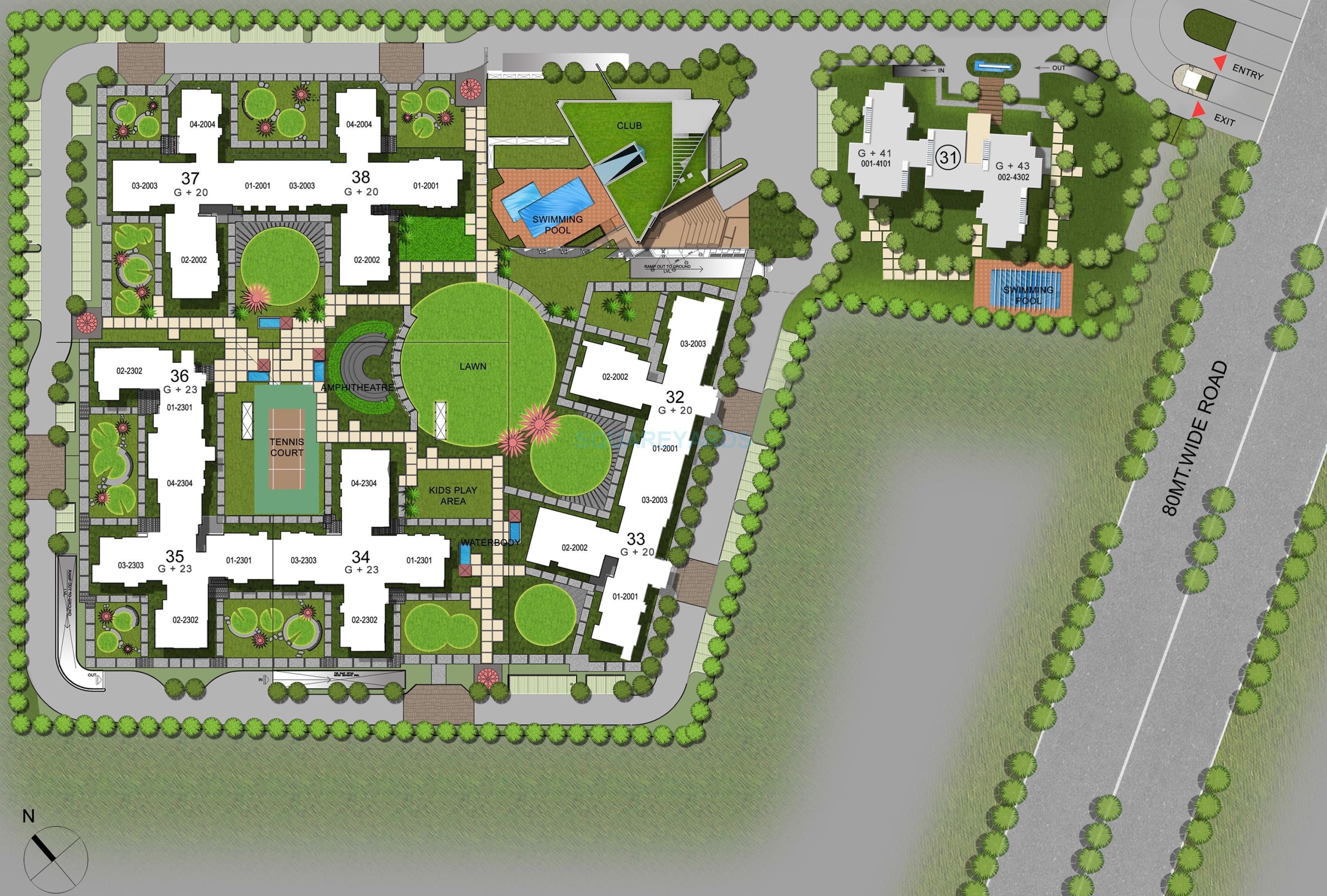 3c lotus boulevard espacia master plan image1