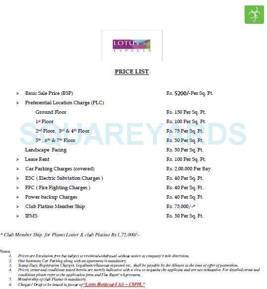 3c lotus boulevard espacia payment plan image1