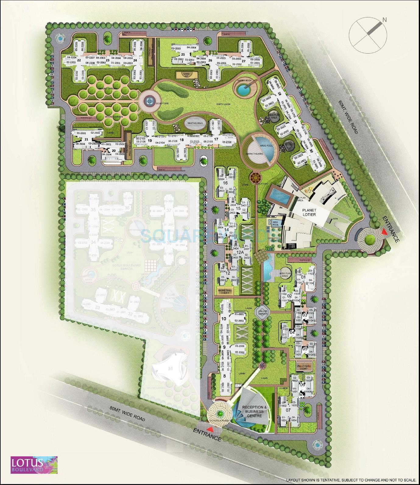 3c lotus boulevard master plan image1