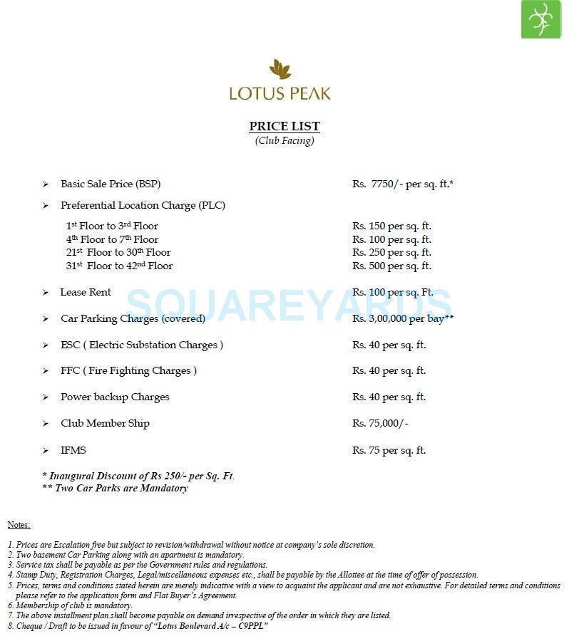 3c lotus peak payment plan image1