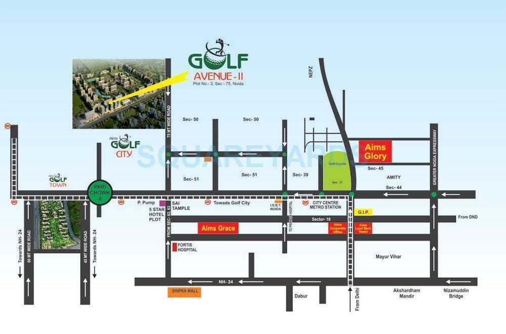 aims golf avenue ii location image1