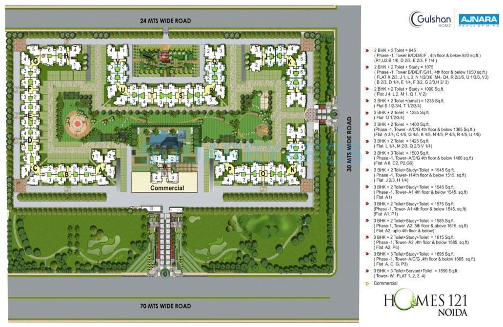 ajnara homes121 master plan image1