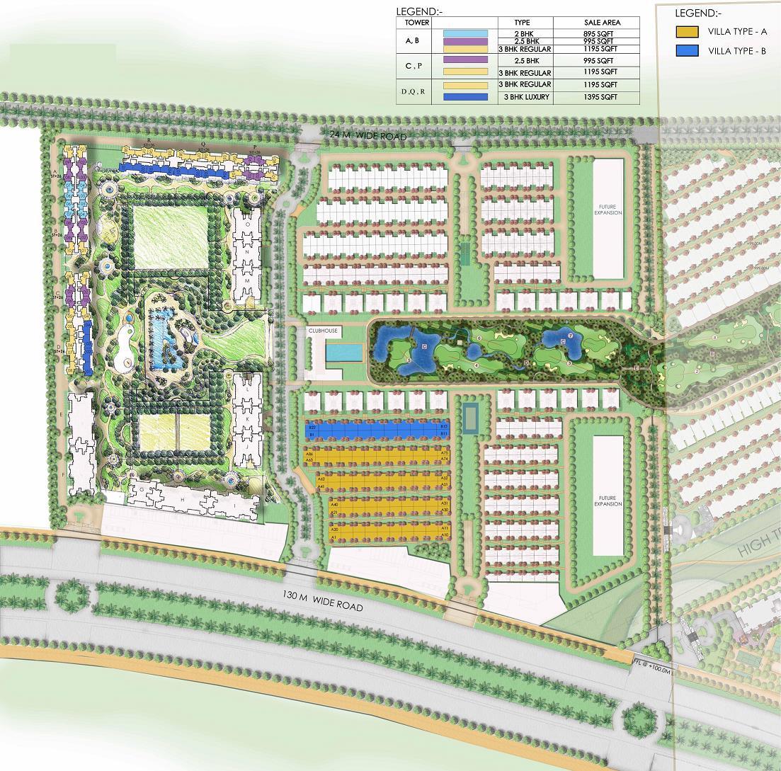 ajnara khel gaon phase 2 tower p q and r master plan image6