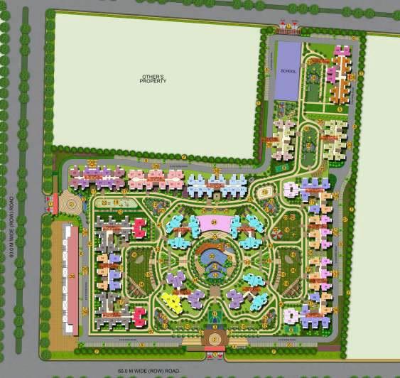 ajnara le garden prime tower master plan image6