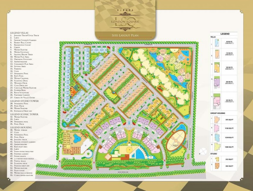 ajnara london square project master plan image1