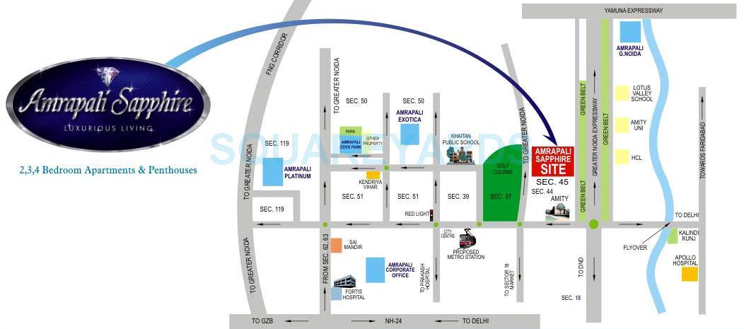 amrapali sapphire location image1